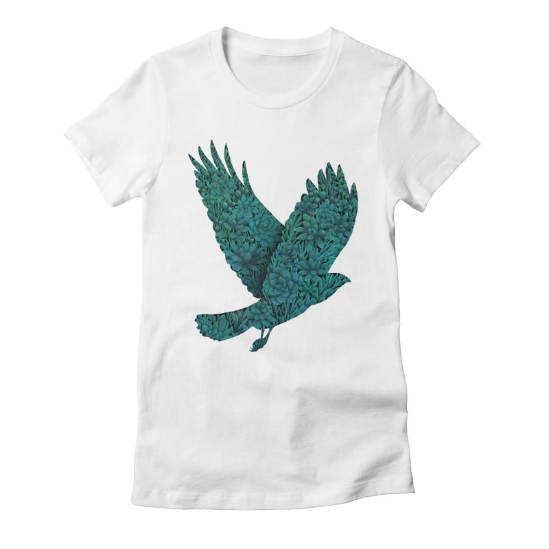 Blue Bird Women's Fitted T-Shirt by Fil Gouvea's Artist Shop