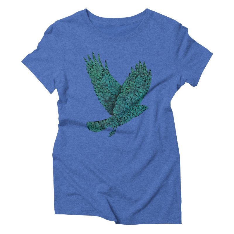 Blue Bird Women's Triblend T-shirt by Fil Gouvea's Artist Shop