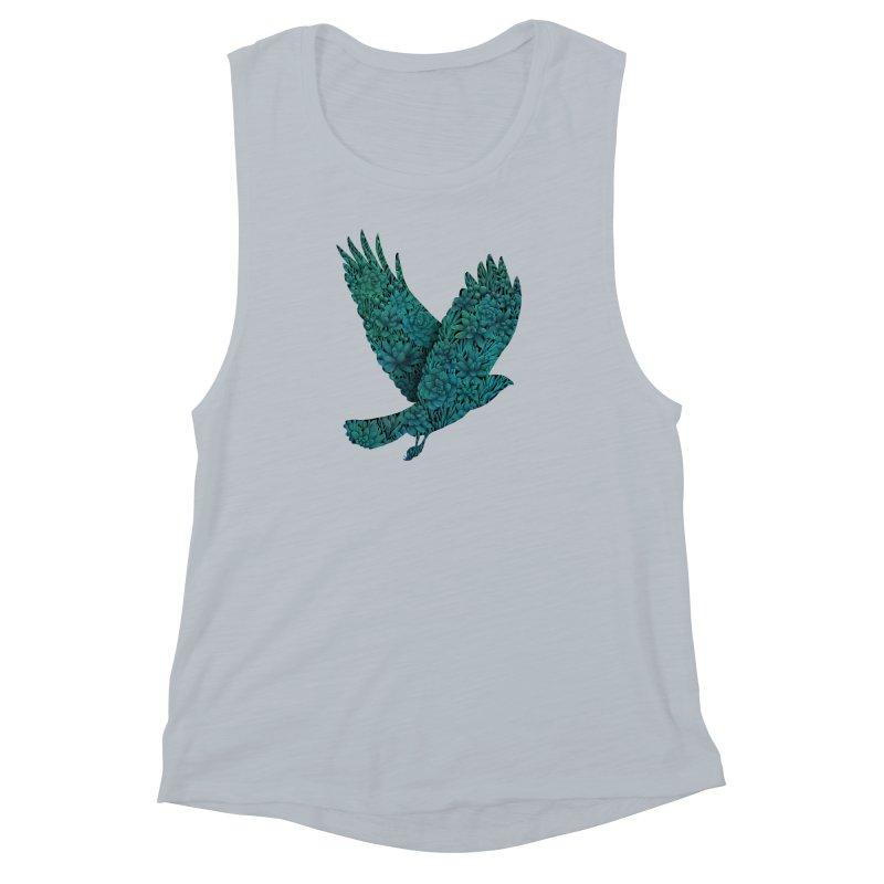 Blue Bird Women's Muscle Tank by Fil Gouvea's Artist Shop