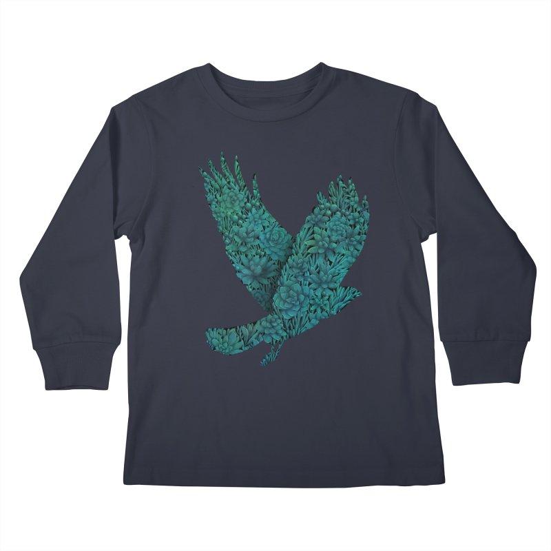 Blue Bird Kids Longsleeve T-Shirt by Fil Gouvea's Artist Shop