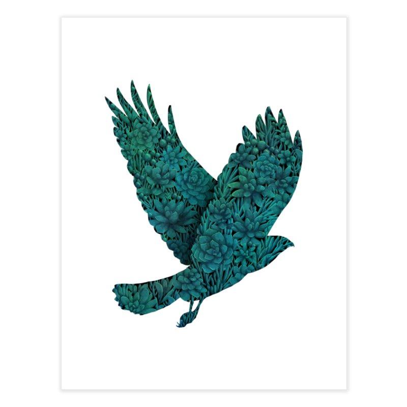 Blue Bird Home Fine Art Print by Fil Gouvea's Artist Shop
