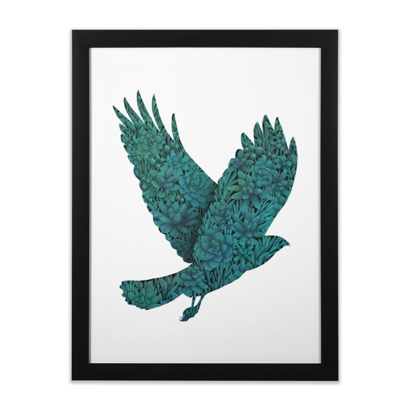 Blue Bird Home Framed Fine Art Print by Fil Gouvea's Artist Shop