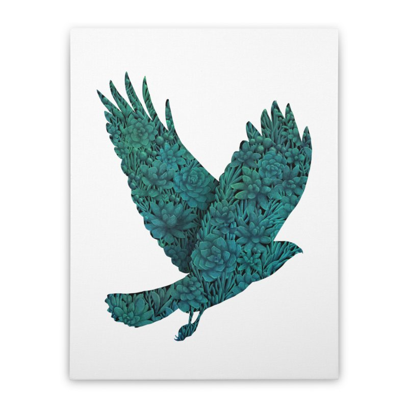Blue Bird Home Stretched Canvas by Fil Gouvea's Artist Shop