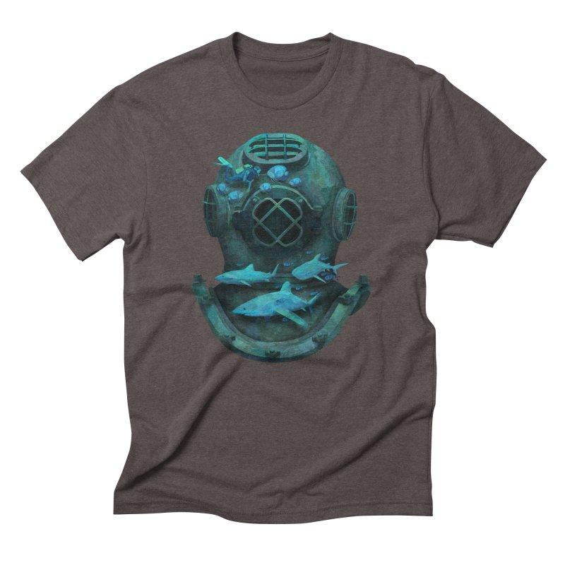 Deep Diving Men's Triblend T-shirt by Fil Gouvea's Artist Shop