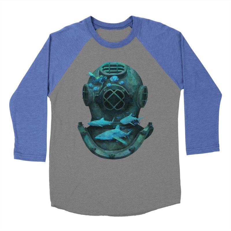 Deep Diving Men's Baseball Triblend T-Shirt by Fil Gouvea's Artist Shop