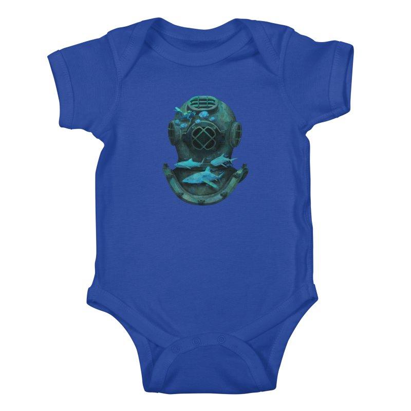 Deep Diving Kids Baby Bodysuit by Fil Gouvea's Artist Shop