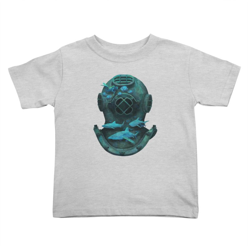 Deep Diving Kids Toddler T-Shirt by Fil Gouvea's Artist Shop