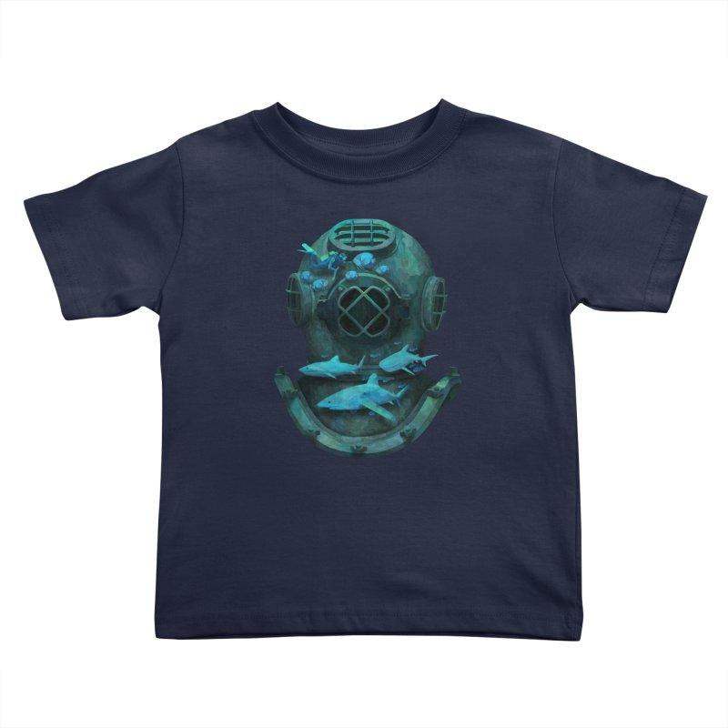 Deep Diving Kids Toddler T-Shirt by Fil Gouvea's Artist Shop