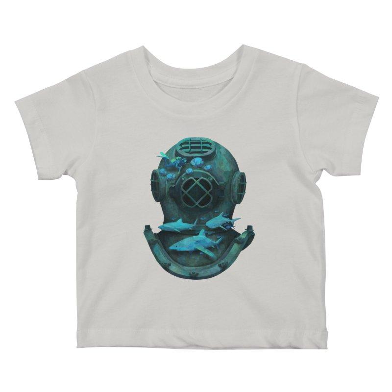 Deep Diving Kids Baby T-Shirt by Fil Gouvea's Artist Shop