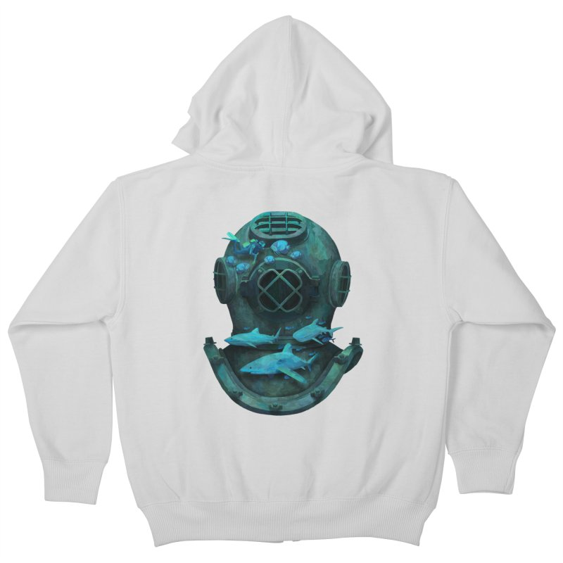 Deep Diving Kids Zip-Up Hoody by Fil Gouvea's Artist Shop