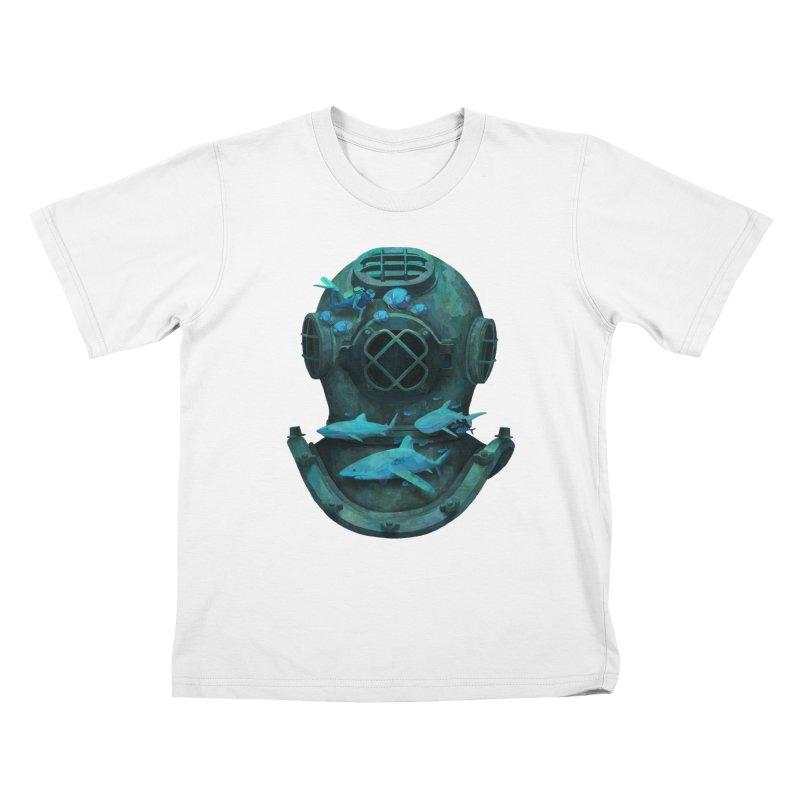 Deep Diving Kids T-Shirt by Fil Gouvea's Artist Shop