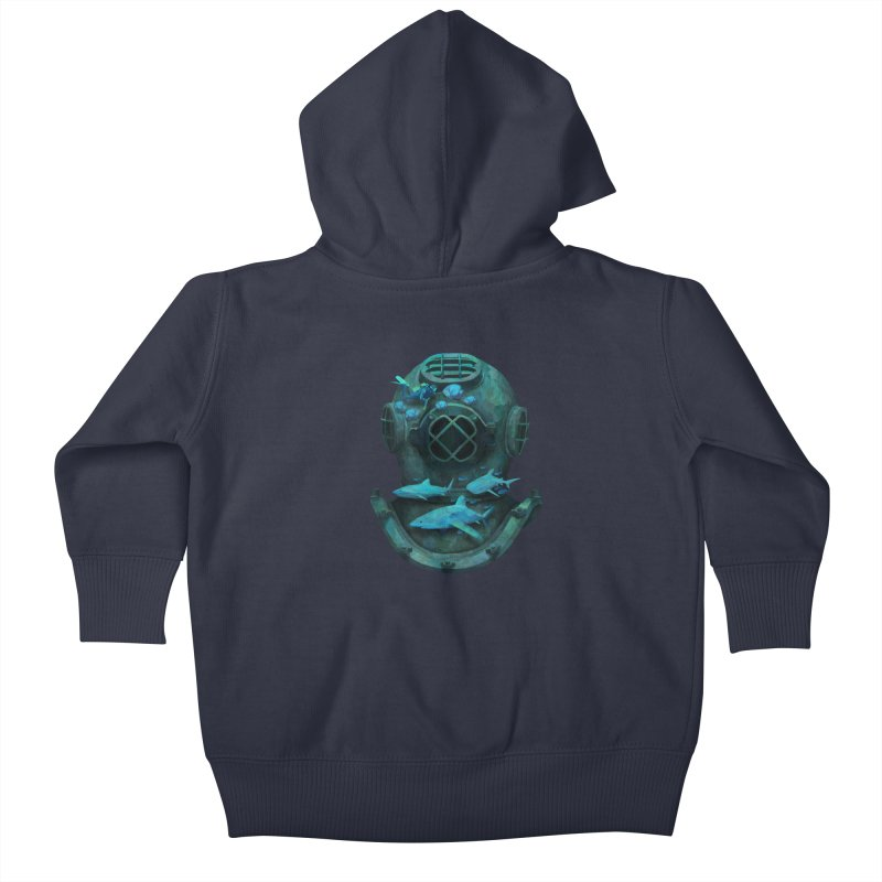 Deep Diving Kids Baby Zip-Up Hoody by Fil Gouvea's Artist Shop