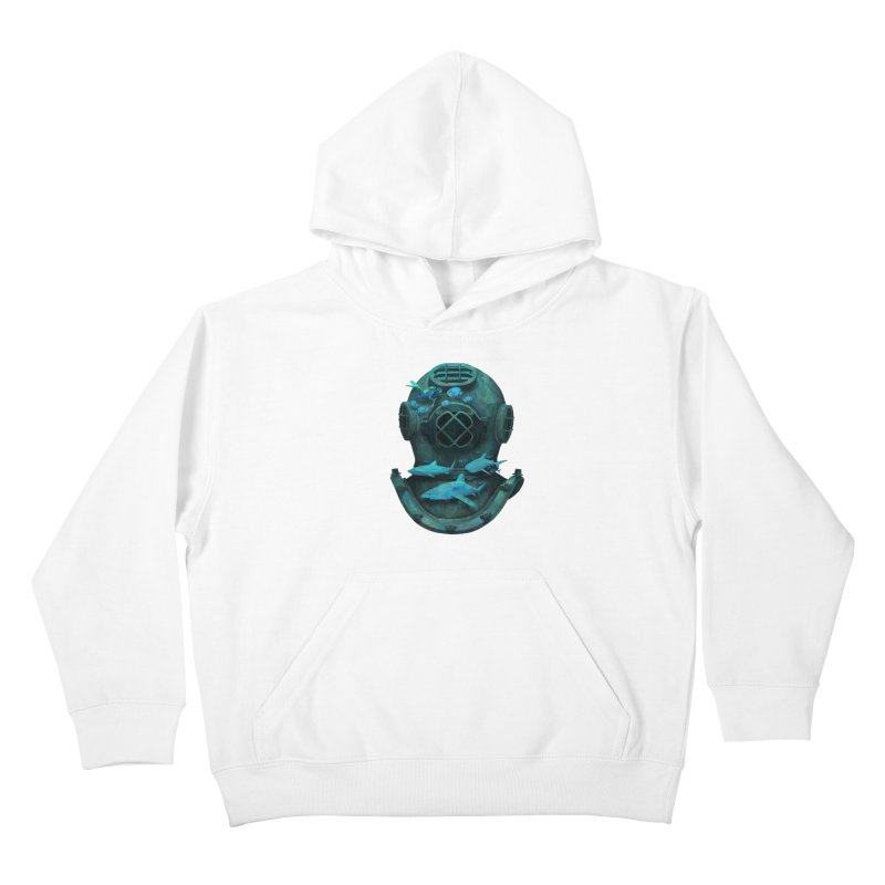 Deep Diving Kids Pullover Hoody by Fil Gouvea's Artist Shop