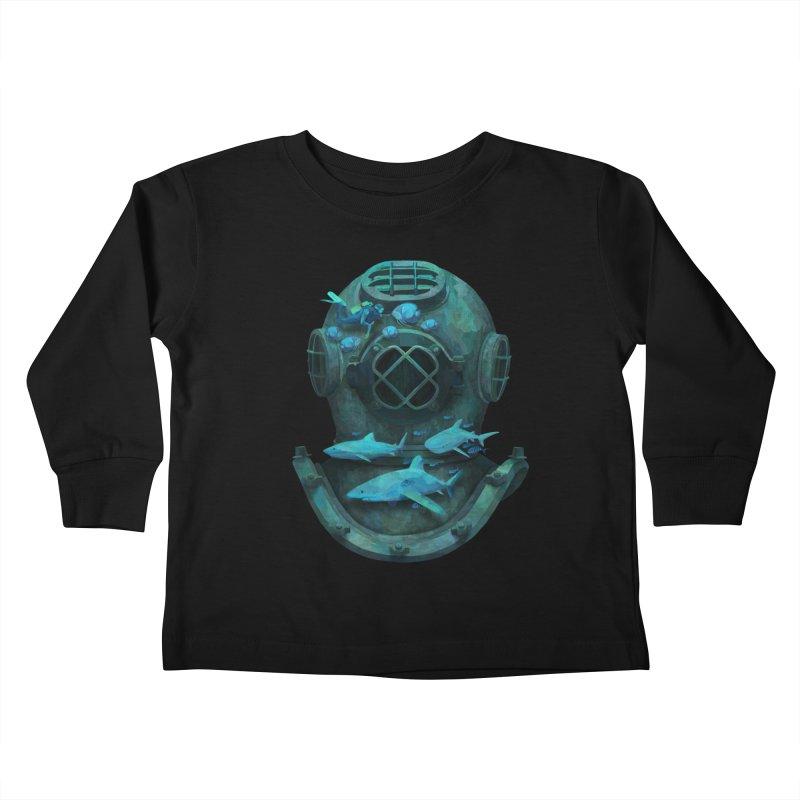 Deep Diving Kids Toddler Longsleeve T-Shirt by Fil Gouvea's Artist Shop