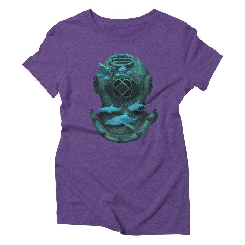 Deep Diving Women's Triblend T-shirt by Fil Gouvea's Artist Shop