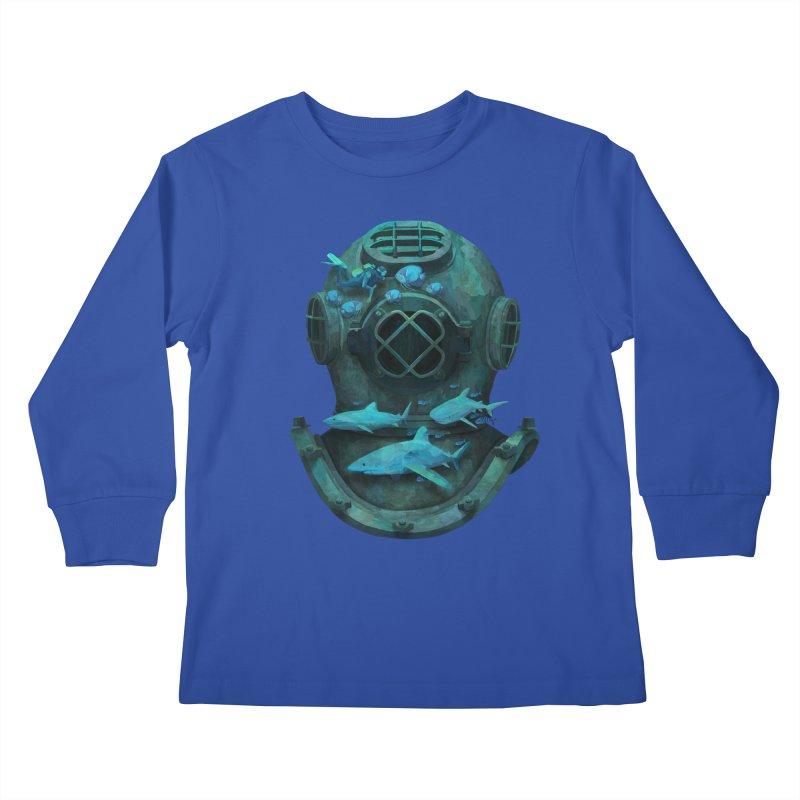 Deep Diving Kids Longsleeve T-Shirt by Fil Gouvea's Artist Shop