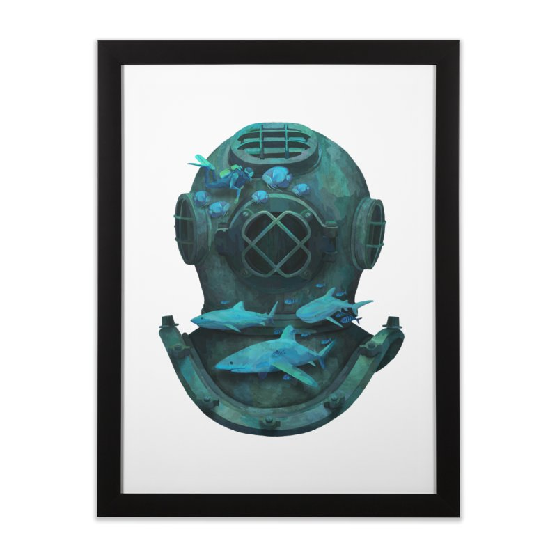 Deep Diving Home Framed Fine Art Print by Fil Gouvea's Artist Shop