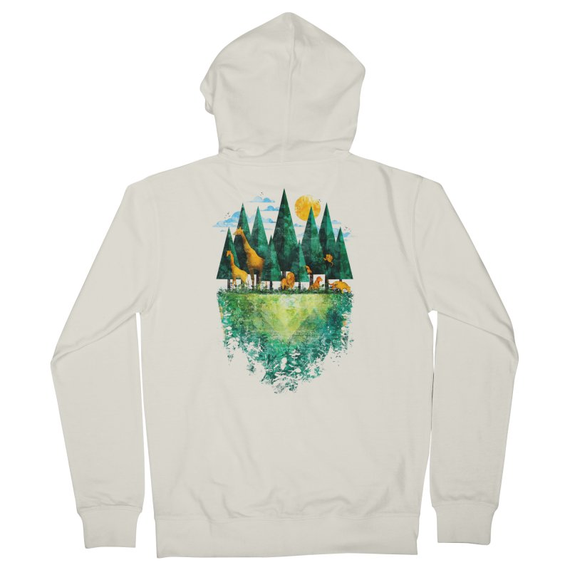 Geo Forest Men's Zip-Up Hoody by Fil Gouvea's Artist Shop