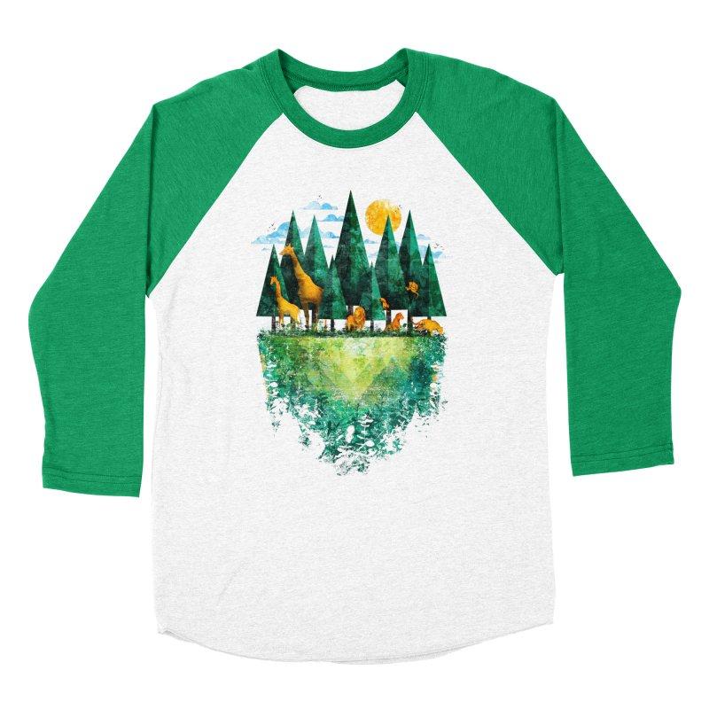Geo Forest Men's Baseball Triblend T-Shirt by Fil Gouvea's Artist Shop