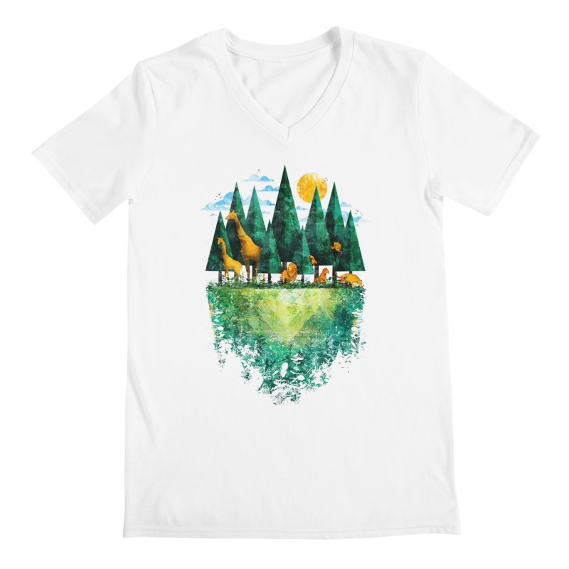 Geo Forest Men's V-Neck by Fil Gouvea's Artist Shop