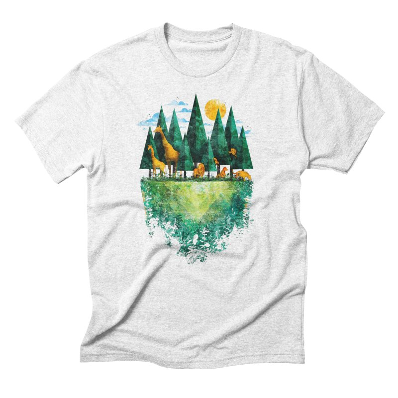 Geo Forest Men's Triblend T-shirt by Fil Gouvea's Artist Shop