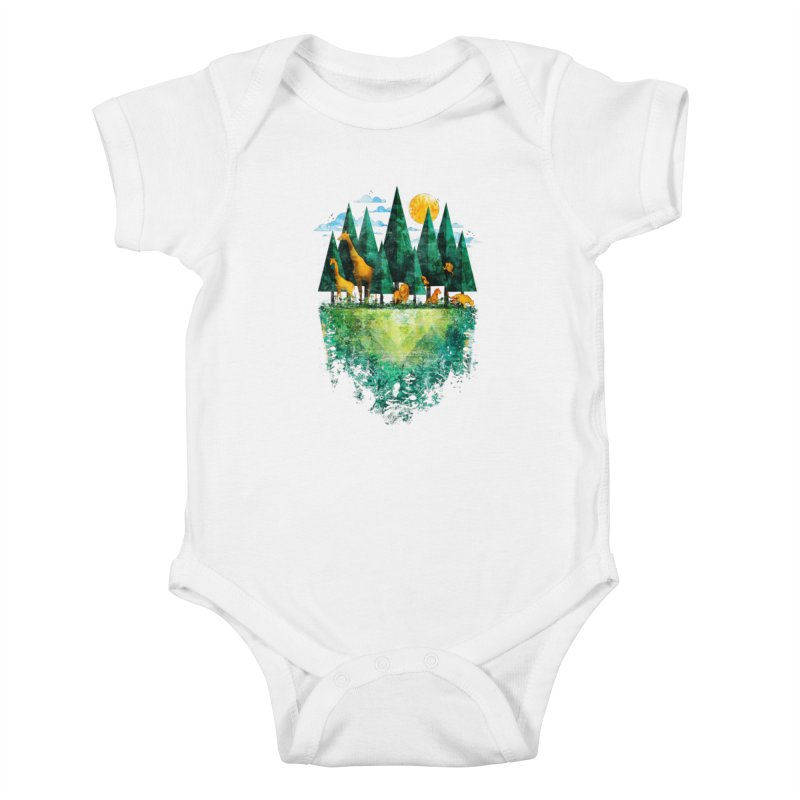 Geo Forest Kids Baby Bodysuit by Fil Gouvea's Artist Shop
