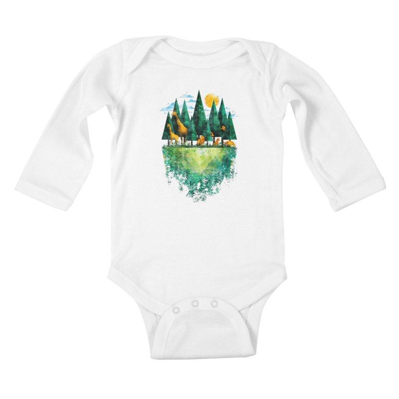 Geo Forest Kids Baby Longsleeve Bodysuit by Fil Gouvea's Artist Shop