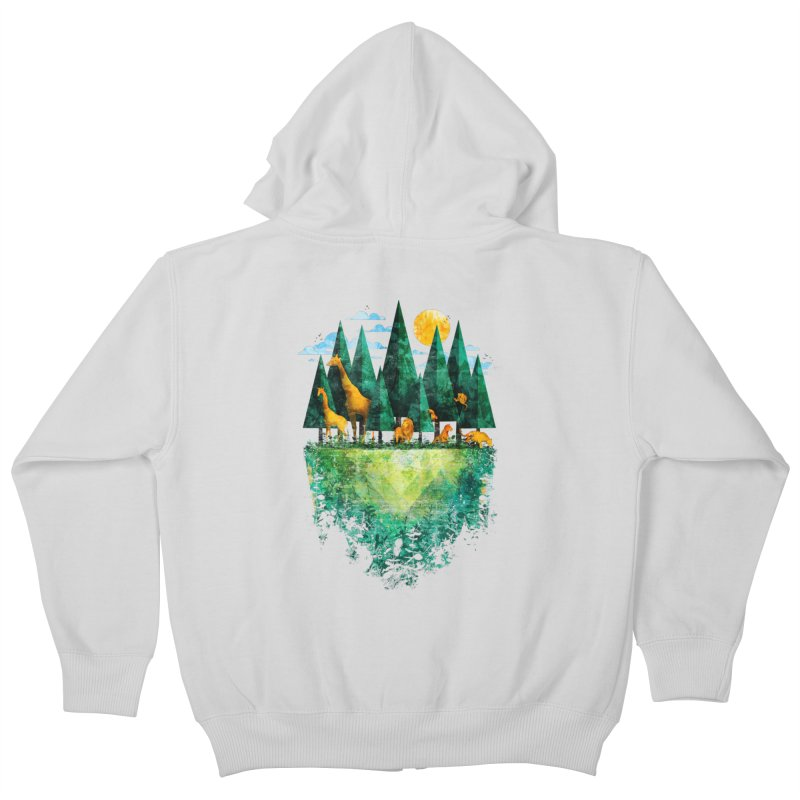 Geo Forest Kids Zip-Up Hoody by Fil Gouvea's Artist Shop