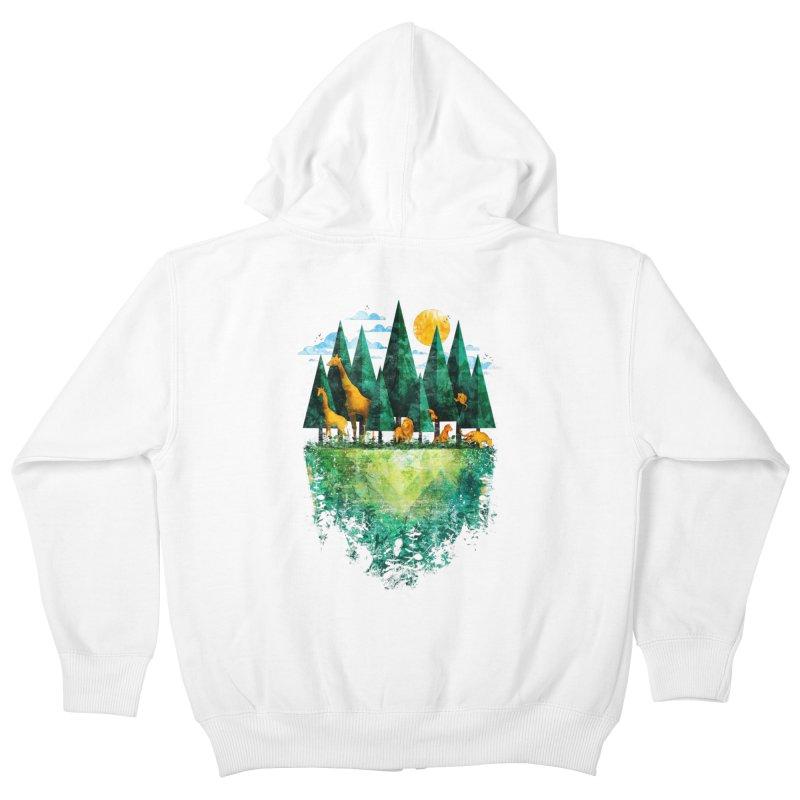 Geo Forest Kids Zip-Up Hoody by Fil Gouvea's Artist Shop