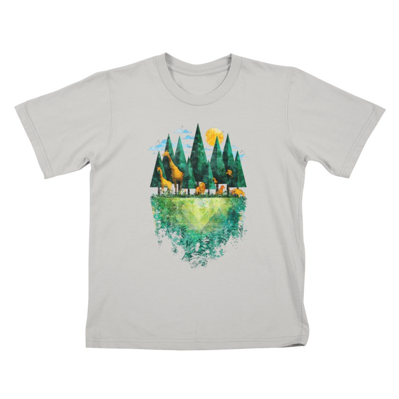 Geo Forest Kids T-Shirt by Fil Gouvea's Artist Shop