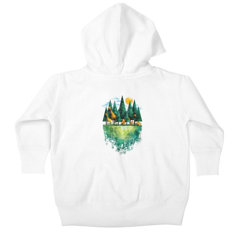 Geo Forest Kids Baby Zip-Up Hoody by Fil Gouvea's Artist Shop