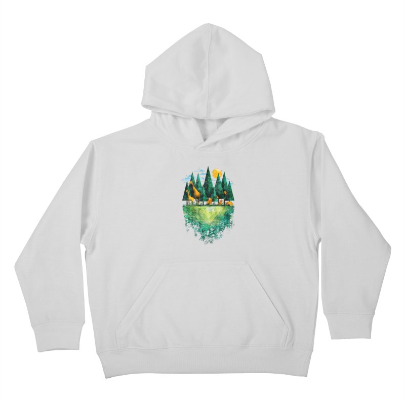 Geo Forest Kids Pullover Hoody by Fil Gouvea's Artist Shop