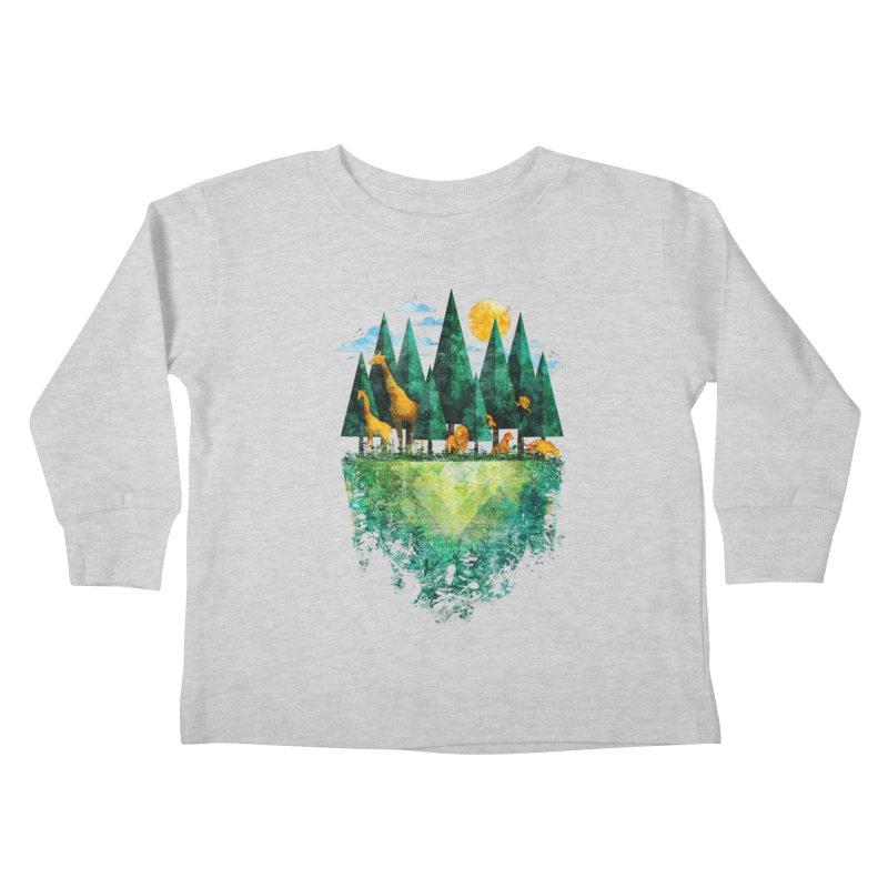Geo Forest Kids Toddler Longsleeve T-Shirt by Fil Gouvea's Artist Shop