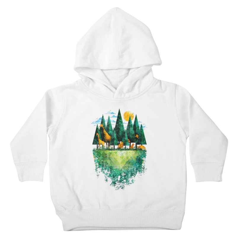 Geo Forest Kids Toddler Pullover Hoody by Fil Gouvea's Artist Shop