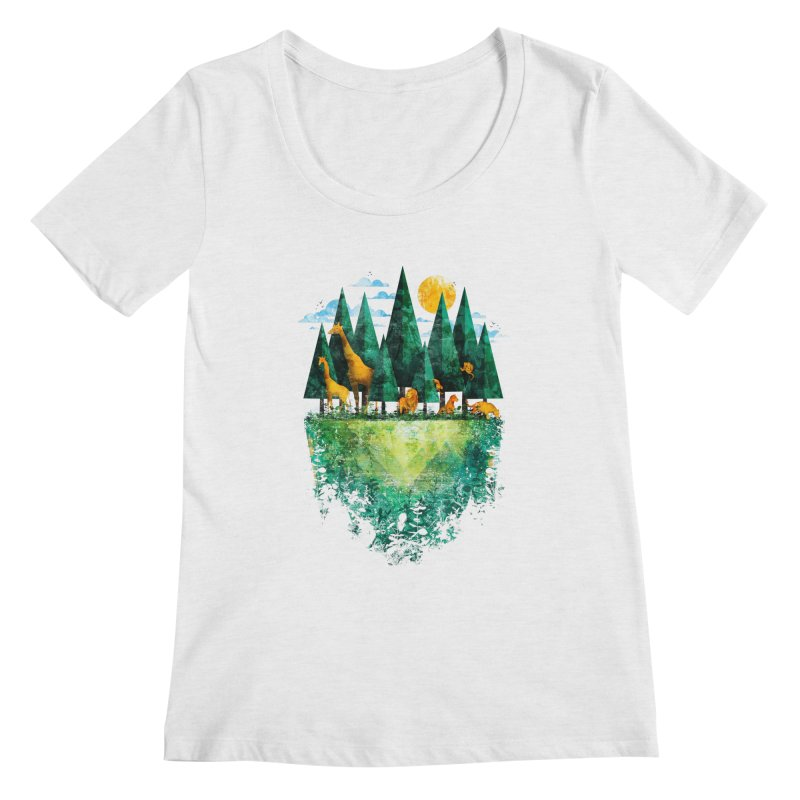 Geo Forest Women's Scoopneck by Fil Gouvea's Artist Shop