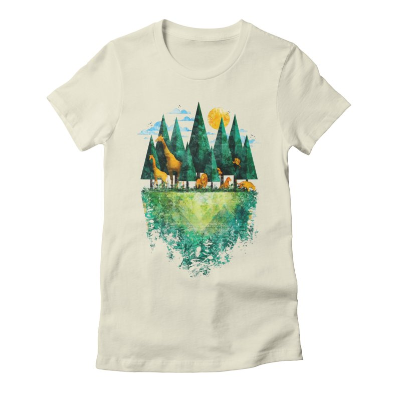 Geo Forest Women's Fitted T-Shirt by Fil Gouvea's Artist Shop
