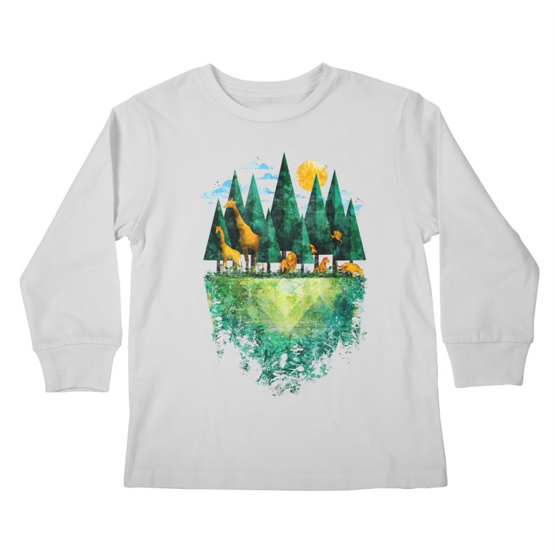 Geo Forest Kids Longsleeve T-Shirt by Fil Gouvea's Artist Shop