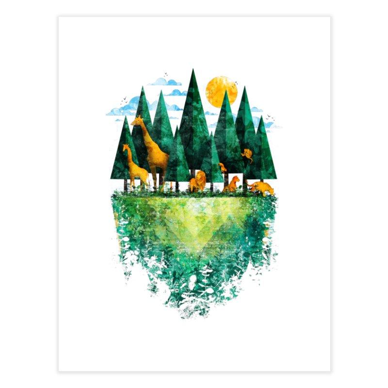 Geo Forest Home Fine Art Print by Fil Gouvea's Artist Shop