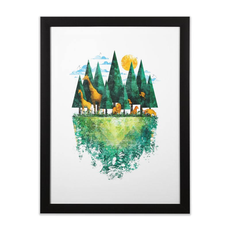 Geo Forest Home Framed Fine Art Print by Fil Gouvea's Artist Shop