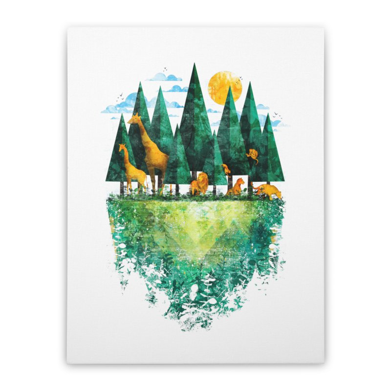 Geo Forest Home Stretched Canvas by Fil Gouvea's Artist Shop