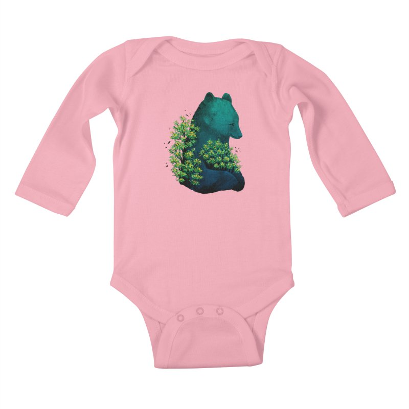 Nature's Embrace Kids Baby Longsleeve Bodysuit by Fil Gouvea's Artist Shop