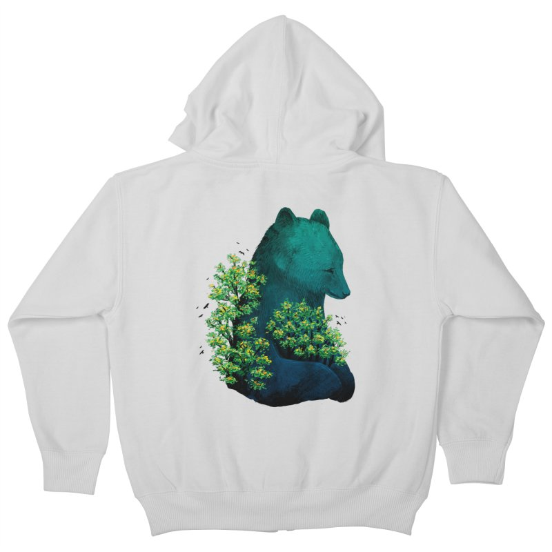 Nature's Embrace Kids Zip-Up Hoody by Fil Gouvea's Artist Shop