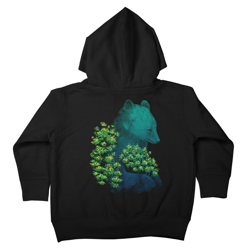 Nature's Embrace in Kids Toddler Zip-Up Hoody Black by Fil Gouvea's Artist Shop