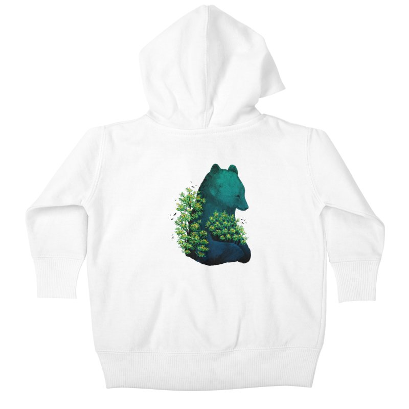 Nature's Embrace Kids Baby Zip-Up Hoody by Fil Gouvea's Artist Shop