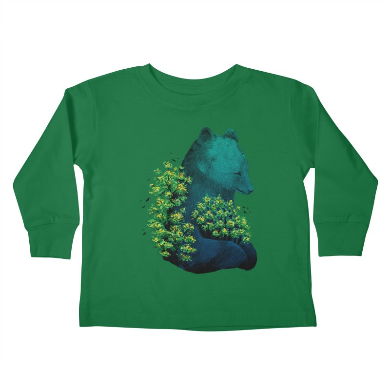 Nature's Embrace Kids Toddler Longsleeve T-Shirt by Fil Gouvea's Artist Shop