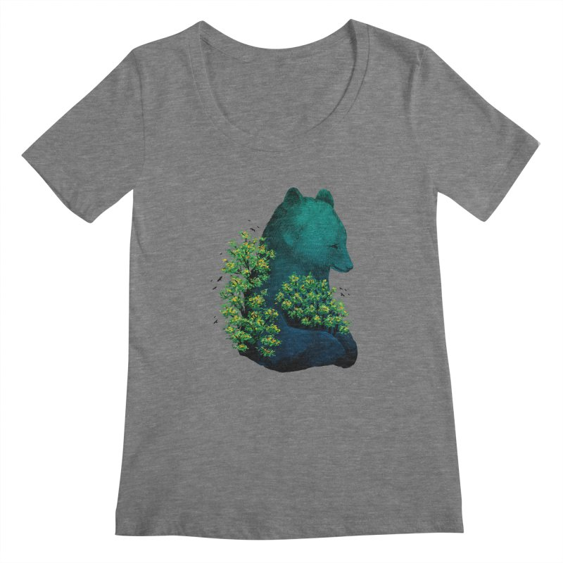 Nature's Embrace Women's Scoopneck by Fil Gouvea's Artist Shop
