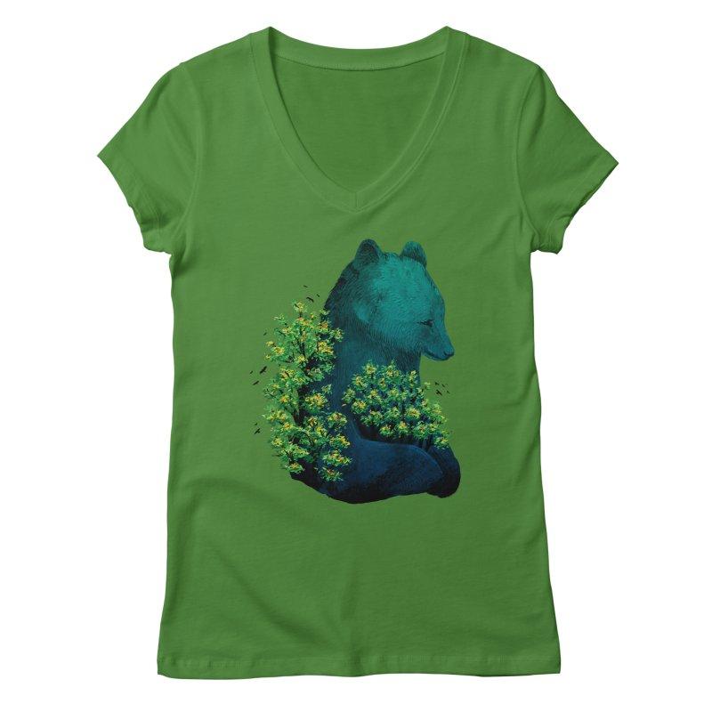 Nature's Embrace Women's V-Neck by Fil Gouvea's Artist Shop