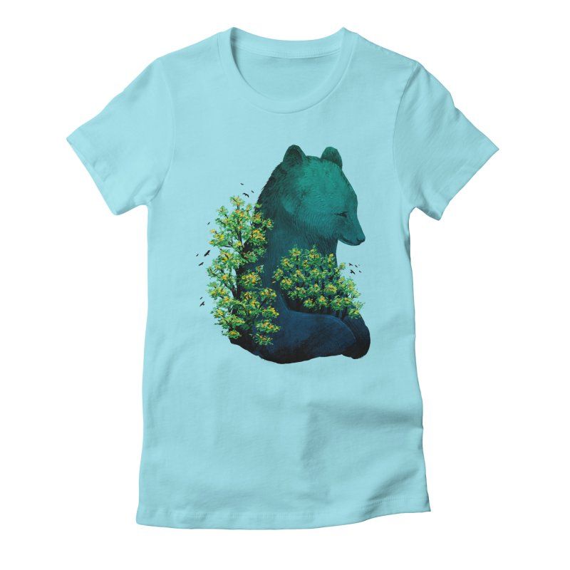 Nature's Embrace Women's Fitted T-Shirt by Fil Gouvea's Artist Shop