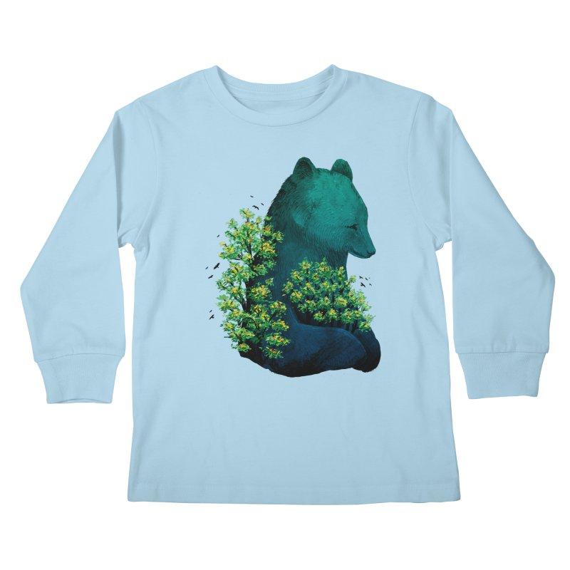 Nature's Embrace Kids Longsleeve T-Shirt by Fil Gouvea's Artist Shop