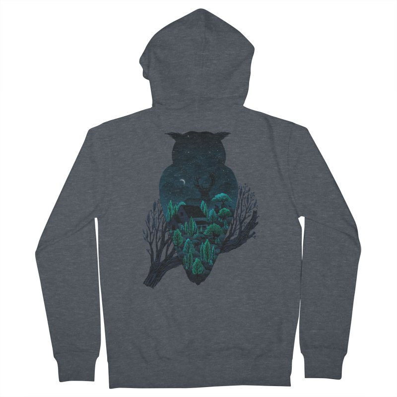 Owlscape Women's Zip-Up Hoody by Fil Gouvea's Artist Shop